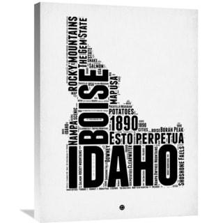 Naxart Studio 'Idaho Word Cloud 2' Stretched Canvas Wall Art