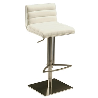 Dubai Off-white Stainless Steel Swivel Stool