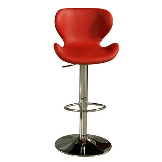 Cagliari Chrome Steel and Faux Leather Swivel Stool