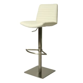 Berkeley Faux Leather and Stainless Steel Swivel Stool
