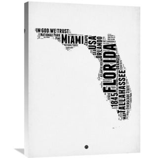 Naxart Studio 'Florida Word Cloud 2' Stretched Canvas Wall Art