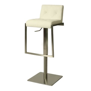 Adijon Faux Leather/Stainless Steel Hydraulic Barstool
