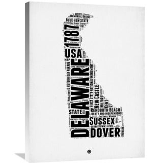 Naxart Studio 'Delaware Word Cloud 2' Stretched Canvas Wall Art