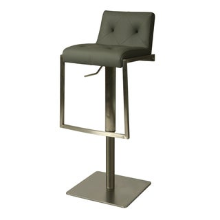Adijon Faux Leather and Stainless Steel Swivel Stool