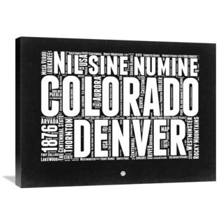 Naxart Studio 'Colorado Black and White Map' Stretched Canvas Wall Art
