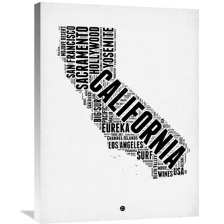 Naxart Studio 'California Word Cloud 2' Stretched Canvas Wall Art