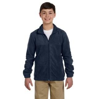 Youth Navy Fleece Full-zip Jacket
