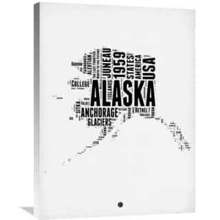 Naxart Studio 'Alaska Word Cloud 2' Stretched Canvas Wall Art