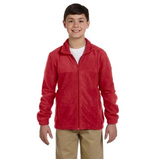 Youth Red Fleece Full-zip Jacket (4 options available)