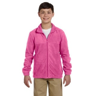Boys' Charity Pink Polyester Full-zip Fleece