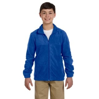 Youth True Royal Fleece Full-zip Jacket