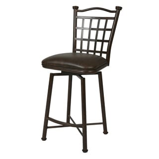Bay Point Bonze Finish Steel/Faux Leather Swivel Stool