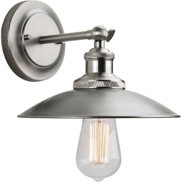 Adjustable Vanity Light Fixtures : Progress Lighting Archives Nickel Steel 9-inch 1-Light Adjustable Swivel Wall Sconce - Free ...