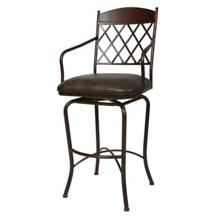Napa Ridge Florentine Coffee Faux-leather/Steel Swivel Stool