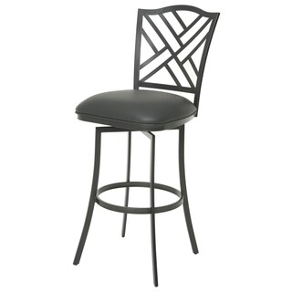Milazzo Faux Leather and Steel Swivel Stool