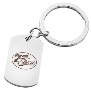 Officially Licensed 75th Sturgis Rally Silver Stainless Steel Key Ring