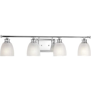 Progress Lighting P2118-15 Lucky Grey Aluminum 4-light Bath
