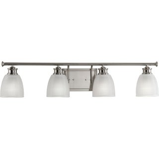 Progress Lighting P2118-09 Lucky Grey Aluminum 4-light Bath Light
