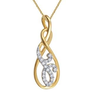 14k Goldplated Diamond Accent Fashion Pendant