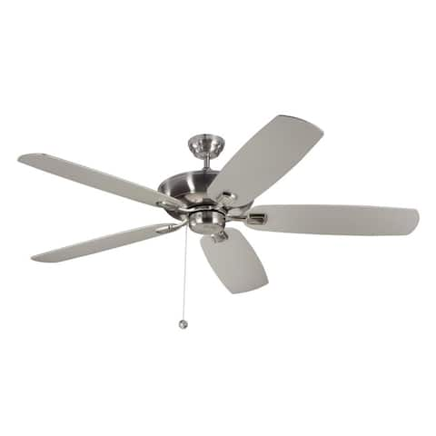 Monte Carlo Colony Super Max 60-inch Brushed Steel Ceiling Fan
