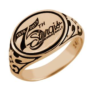 Officially Licensed 75th Sturgis Rally 10k Gold Ladies Ring