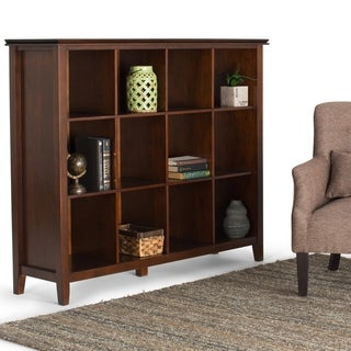 WYNDENHALL Stratford Auburn Brown 12-cube Bookcase and Storage Unit