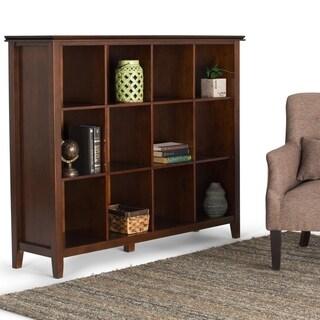 WYNDENHALL Stratford Auburn Brown 12 Cube Bookcase And Storage Unit