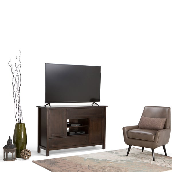 shop wyndenhall fleming tall tv stand for up to 60 inch tv 39 s on sale free shipping today. Black Bedroom Furniture Sets. Home Design Ideas