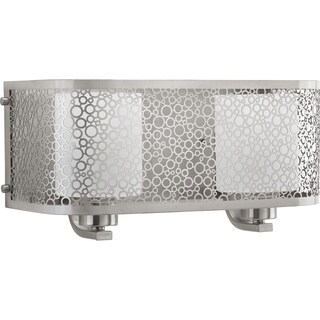 Progress Lighting Mingle Grey Aluminum 2-light Bath Fixture