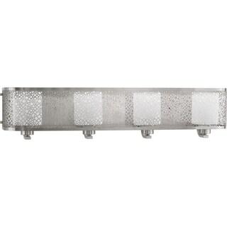 Progress Lighting P2164-09 Mingle Grey Aluminum 4-light Bath Fixture