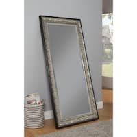 Sandberg Furniture Monaco Leaner Antique Silver and Black Full Length Mirror