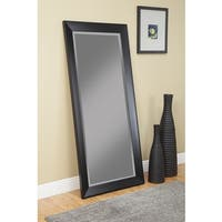 Copper Grove Schilla Black Full-length Leaner Mirror