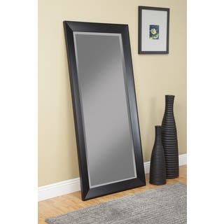 Sandberg Furniture Mid Century Modern Black Full Length Leaner Mirror