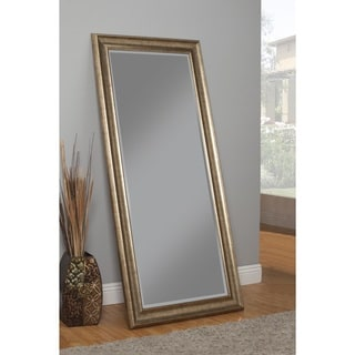 Sandberg Furniture Antique Goldtone Full Length Leaner Mirror