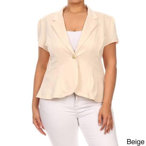 Women's Plus Size Blazer Style Jacket