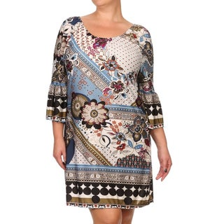 Women's Plus-size Abstract Shift Dress