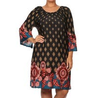 Plus-size Women's Tapestry Shift Dress