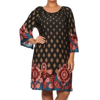 Plus-size Women's Tapestry Shift Dress (More options available)