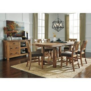 Signature Design by Ashley Tamilo Brown Dining Table with Chairs|https://ak1.ostkcdn.com/images/products/12151546/P19005886.jpg?impolicy=medium