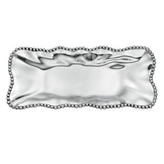 Lenox Organics Polished Aluminum Beaded Wave Rectangular Tray