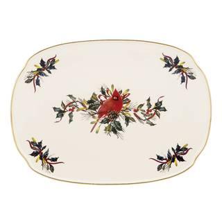 Winter Greetings Oblong Platter