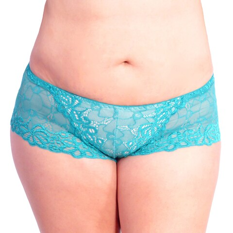Prestige Women's Biatta Plus Size Overlay Lace Boy Short