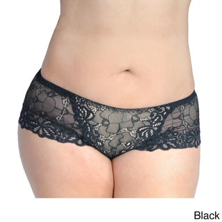 Prestige Women's Biatta Plus Size Overlay Lace Boy Short (3 options available)