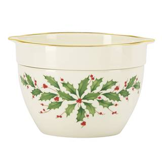 Lenox Holiday Gold, Green, and White Porcelain Cold Dip Bowl