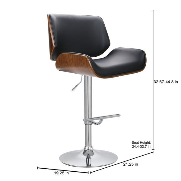 Amazing Shop Porthos Home Oriole Wood And Chrome Bar Stool On Sale Ncnpc Chair Design For Home Ncnpcorg