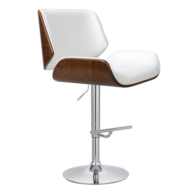 Porthos Home Oriole Wood and Chrome Bar Stool - Free Shipping Today - Overstock.com - 19005799  sc 1 st  Overstock.com & Porthos Home Oriole Wood and Chrome Bar Stool - Free Shipping ... islam-shia.org