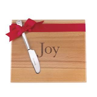 Lenox Joy Brown Aluminum Cheeseboard with Spreader