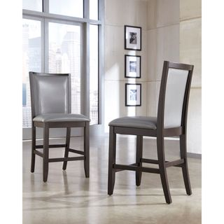 Signature Design by Ashley Trishelle Gray/Dark Brown Upholstered Barstool (Set of 2)