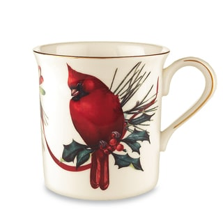 Lenox Winter Greetings Gold China Cardinal Mug