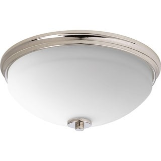 Progress Lighting P3423-104 Replay Nickel Steel/Porcelain 2-light Flush Mount